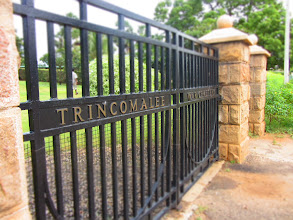 Photo: The gates at Trincomalee War Cemetery.