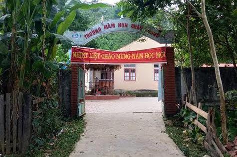 Trường Mầm non Châu Phong, nơi cô Thanh làm Hiệu trưởng - Ảnh: Thiên Thảo