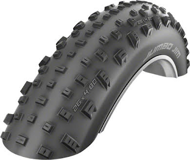 Schwalbe Jumbo Jim Tubeless Easy SnakeSkin Tire, 26x4.8 EVO with PaceStar Compound