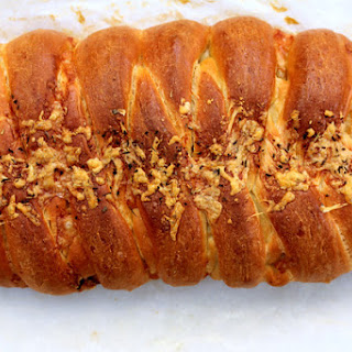 Caramelized Onion and Shallot Braided Bread with Gruyere Cheese and Herbes de Provence
