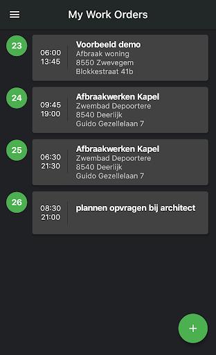 Wappy eenvoudige werkbon app screenshot 1