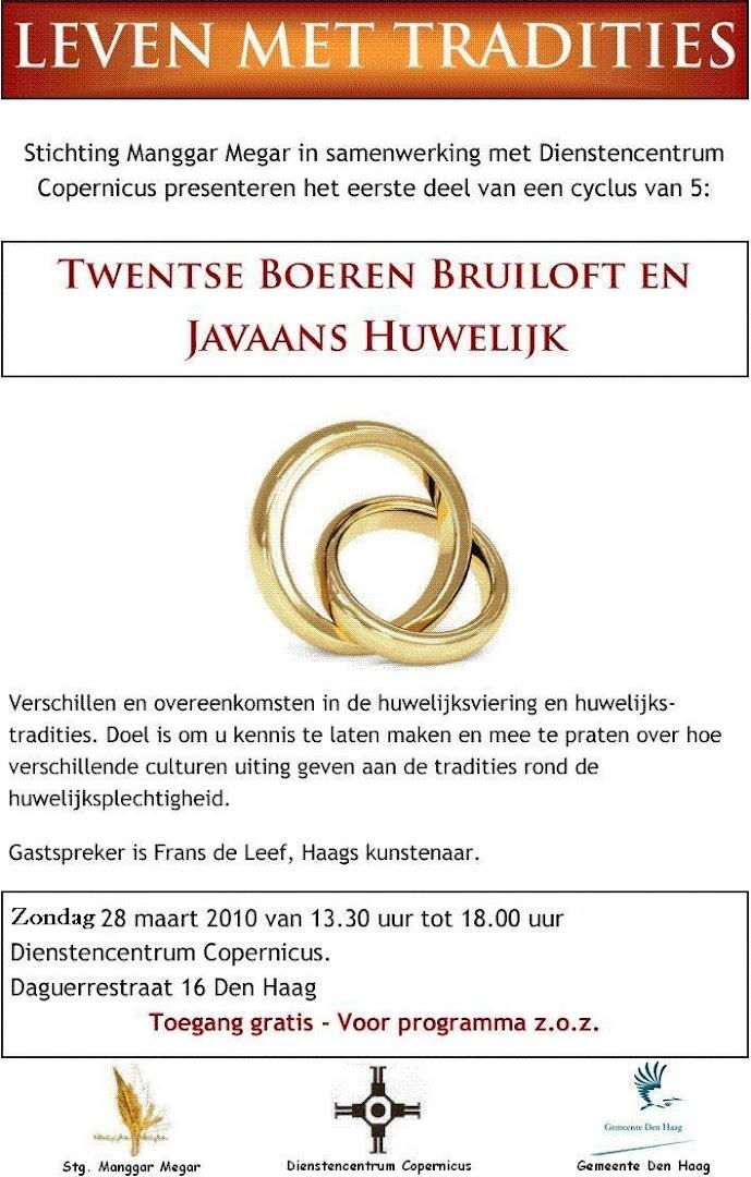 Twentse Boeren Bruiloft en Javaans Huwelijk