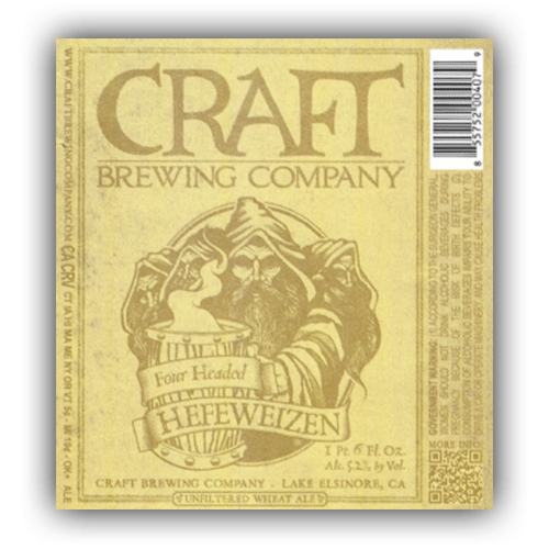 Logo of Craft Brewing Company Four Headed Hef