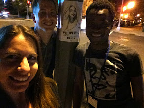 Photo: 4.17.15 Bisi, SSH Board member Patrick and SSH founder Holly with their STWTS poster in Washington, DC