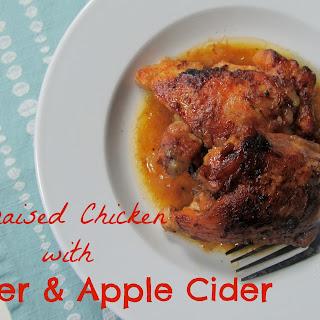 Braised Chicken with Beer & Apple Cider