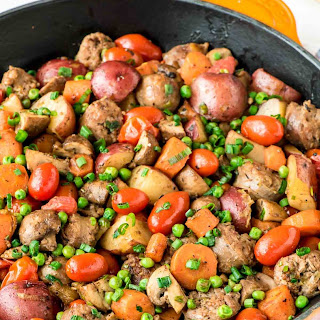 Italian Sausage Skillet with Spring Vegetables