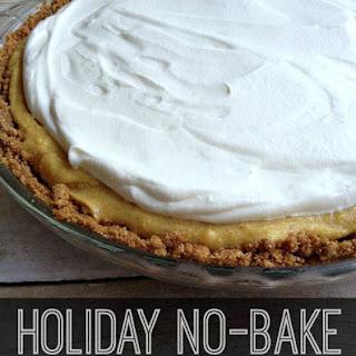 Holiday No-Bake Eggnog Pie