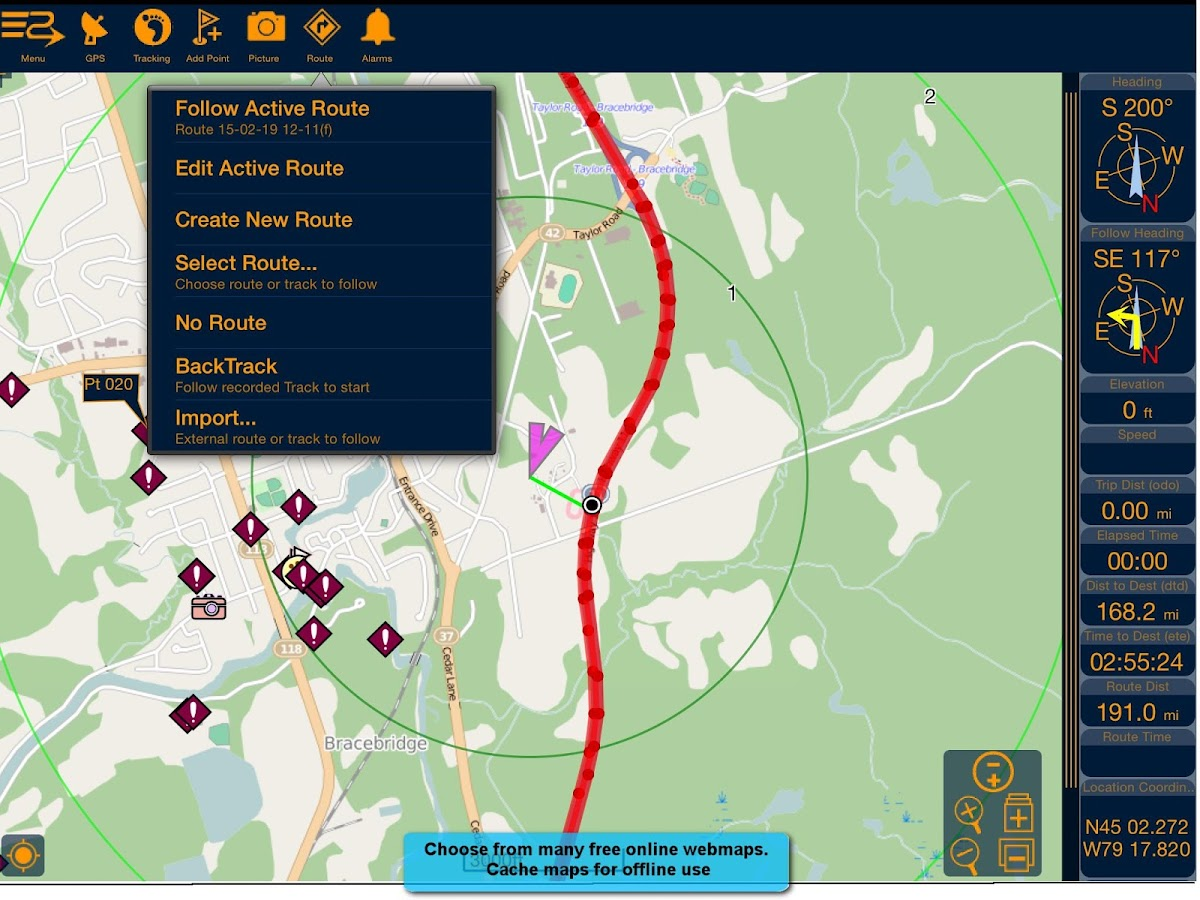 PathAway Express - Outdoor GPS– skärmdump