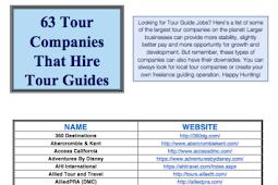 Tour Guide Jobs