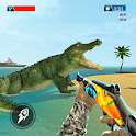 Crocodile Shooting: Sea Animal Hunting Attack icon
