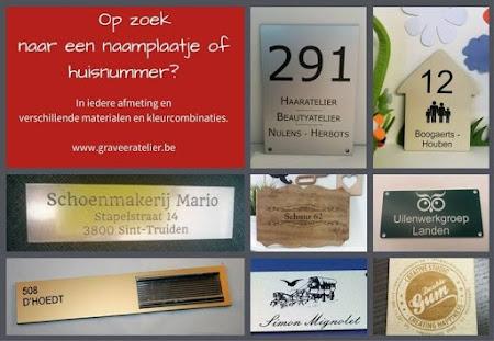 Wij maken jouw naamplaatje en huisnummer