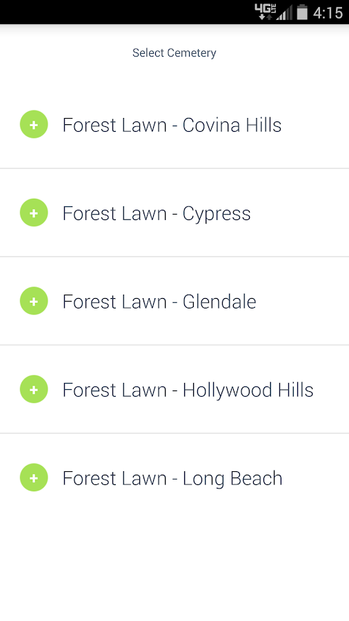 Forest Lawn Visitors Guide- screenshot