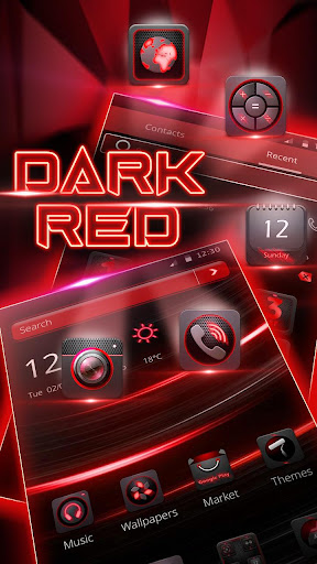 Dark Red Launcher 5.31.10 screenshots 1