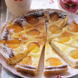 Soft Cheese and Stone Fruit Tart