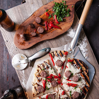 BBQ Beer Brat Tailgate Pizza & How To Prep A Grilled Pizza For Tailgating