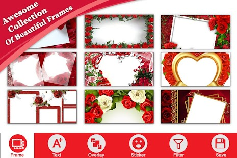 Rose Flower Photo Frame - náhled