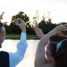 Love by Matt Stevens - Wedding Bride & Groom ( love, hands, lake, smiles )