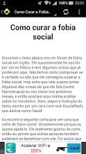 Como Curar a Fobia Social screenshot thumbnail