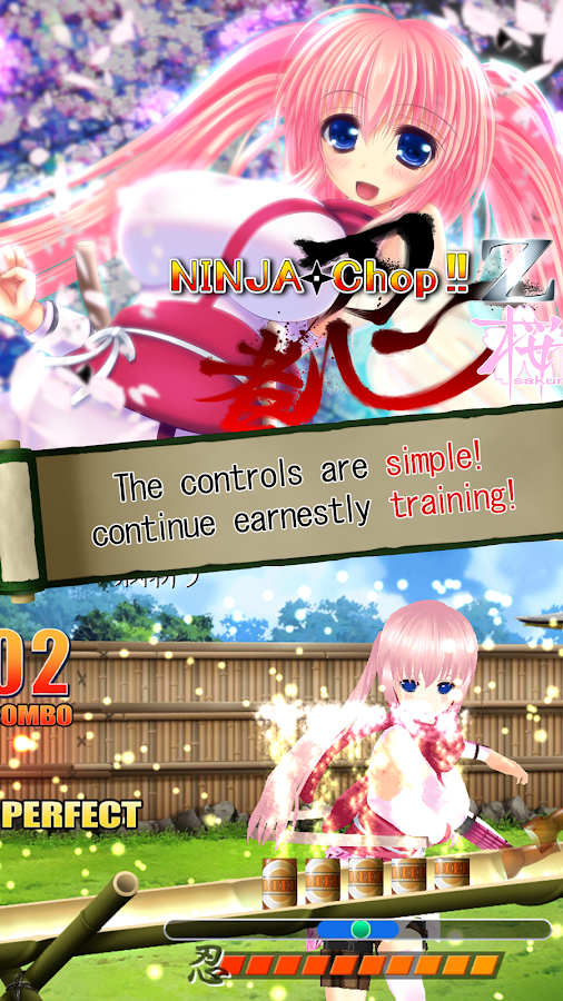 Ninja Chop Z Sakura- screenshot