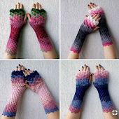 DIY Crochet Dragon Gloves Ideas
