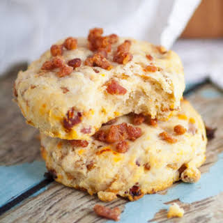 Bacon and Sun Dried Tomato Biscuits.
