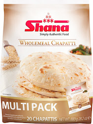 Shana Simply Authentic Food Wholemeal Chapattis - 800g