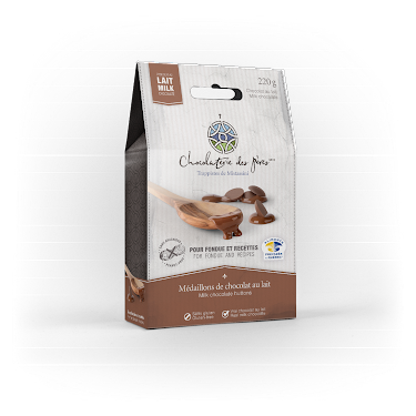 Chocolat Médaillons de chocolat au lait pour fondue et recettes  Boites maison (épicerie)