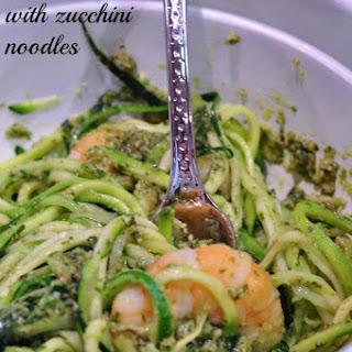 Pesto Shrimp With Zucchini Noodles