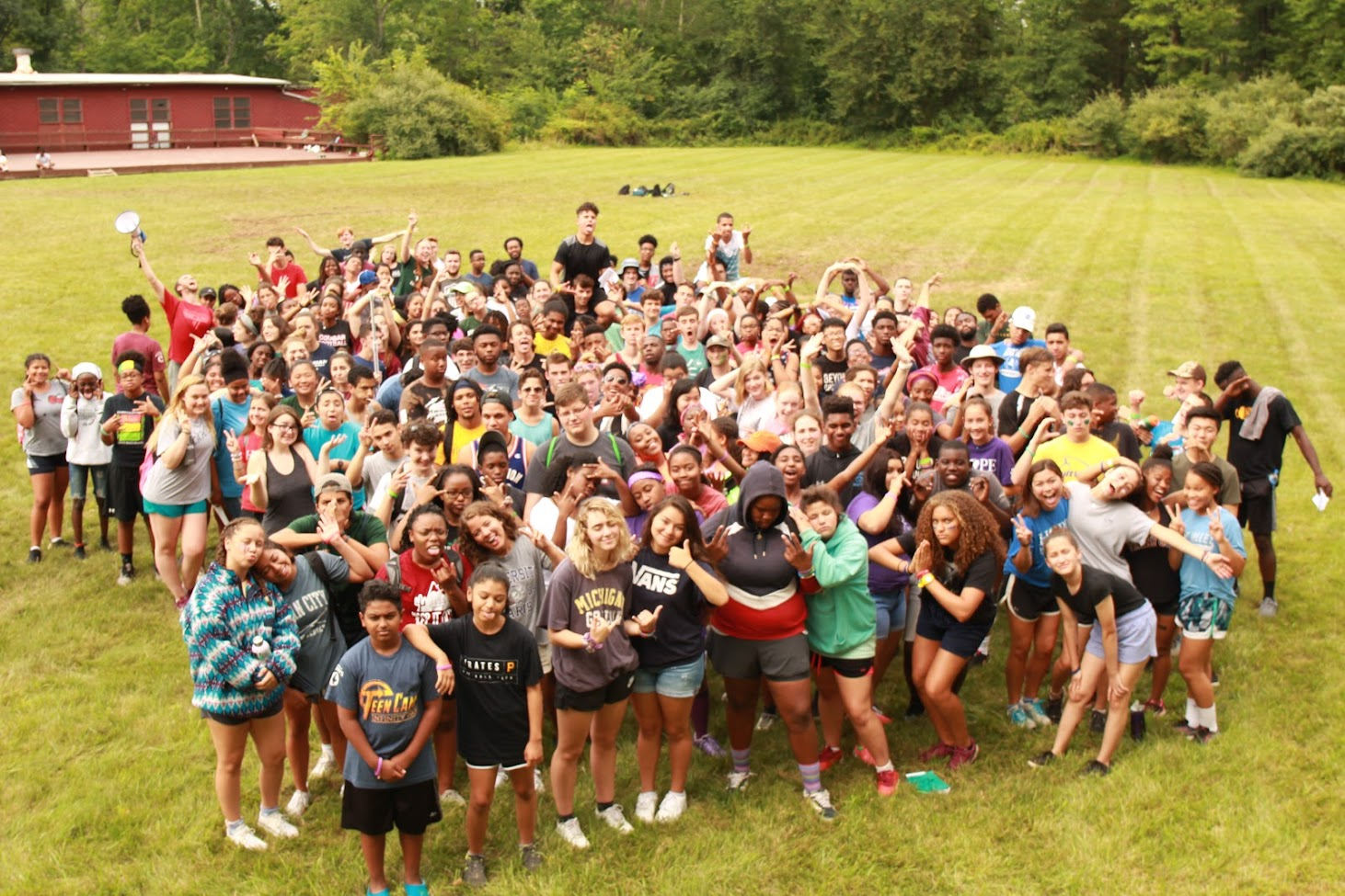 Campers at Teen Camp 2 2018
