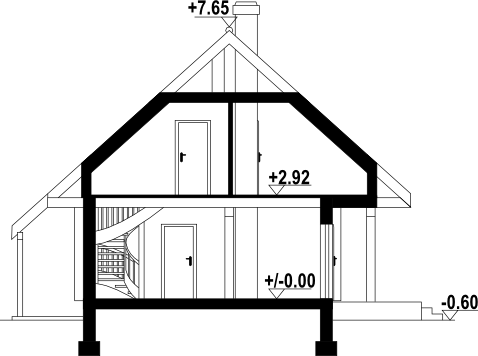 Świdnica mała dw13 - Przekrój
