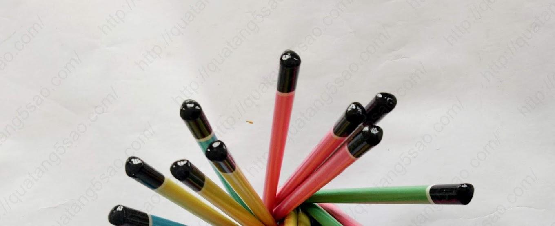 Đầu bút chì bo tròn, sơn đen