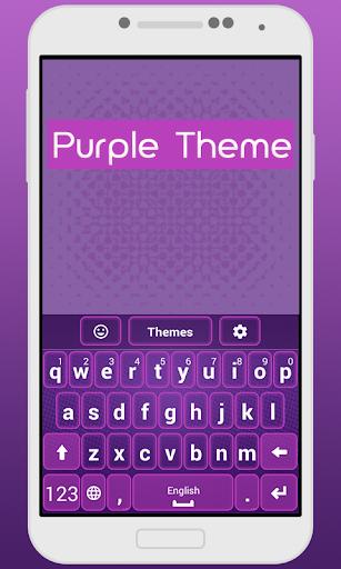 Keyboard Themes Purple