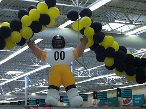 Photo: I love this giant Steelers display!