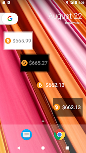 Simple Bitcoin Cash Widget - náhled