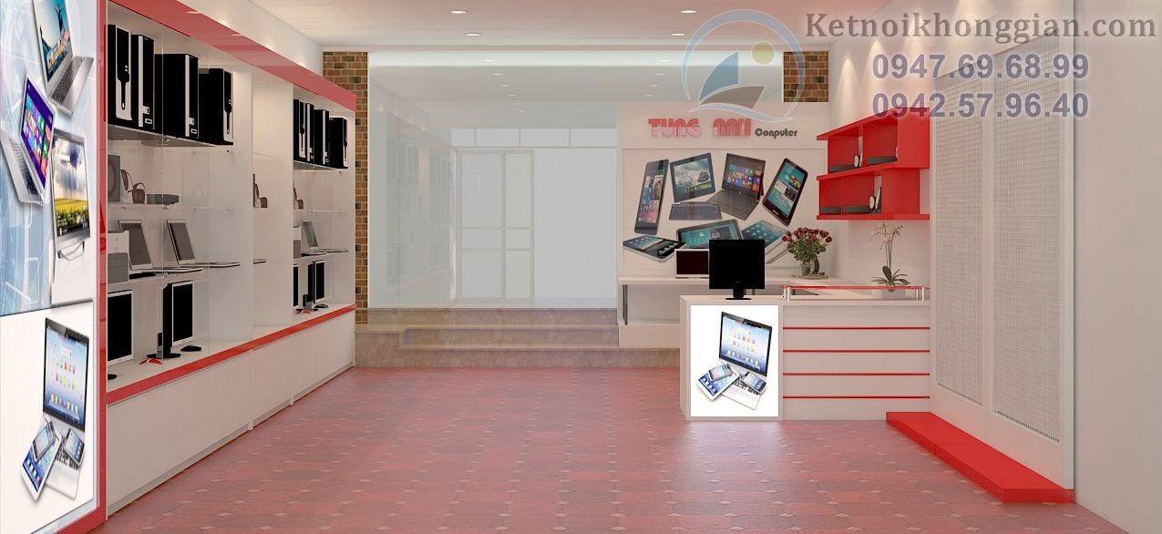 thiết kế cửa hàng máy tính chất lượng cao