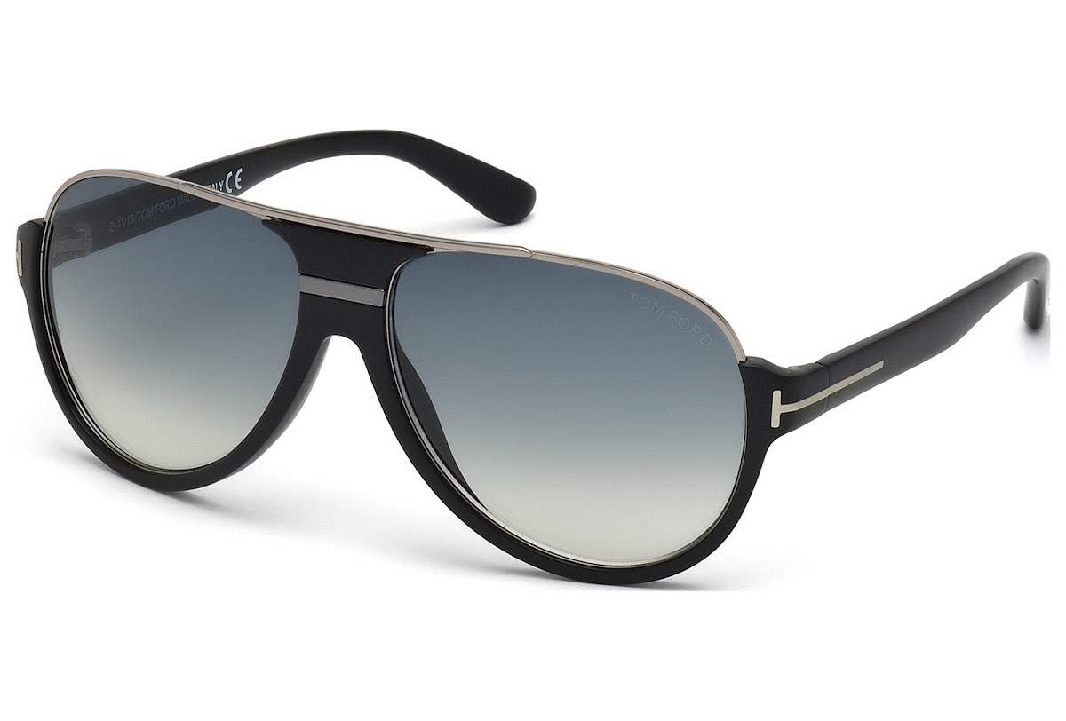 5c55f4f3bc5 Sunglasses Tom Ford Dimitry FT0334 C59 02W (matte black   gradient blue)