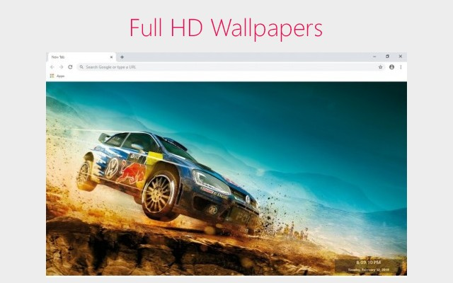 Dirt 4 Wallpapers and New Tab