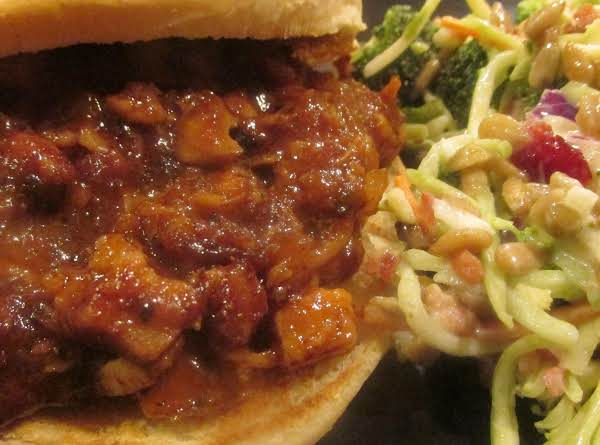 Chopped  Bbq Pork & Chicken On Toasted Kaiser Buns Recipe