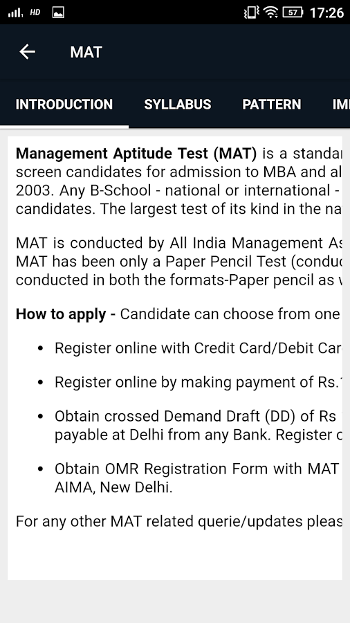 AIMA MAT Exam Preparation- screenshot