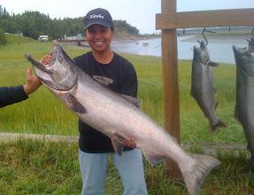Photo: Big Alaska king salmon like this bright 40 plus pound fish caught on the Kasilof river.