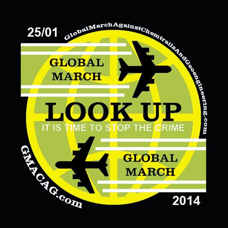 Marcha Global .. Chemtrails .. look to the sky!!..