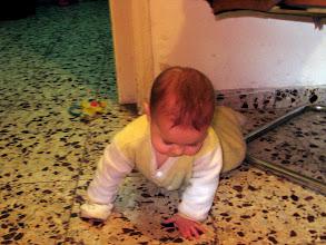 Photo: Tamar almost crawling