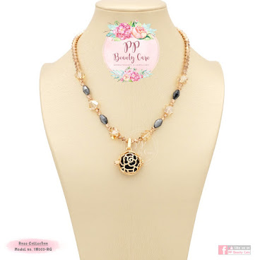 Rose Collection_7N003-RG Essential oil necklace diffuser 玫瑰系列: 精油項鏈