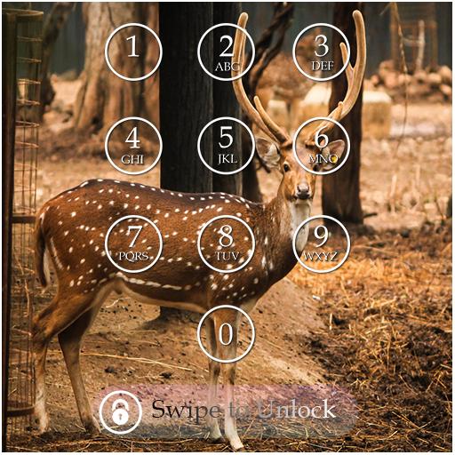 Deer Keypad Screen Lock Theme