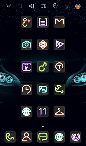 android Neon Sign Icon Pack Screenshot 1
