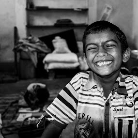 Hapiness by Shovan Sam - Black & White Street & Candid ( cannon )