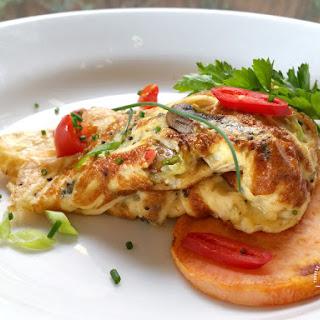 Mushroom & Brown Mustard Seed Omelette w/ Sweet Potato Toast