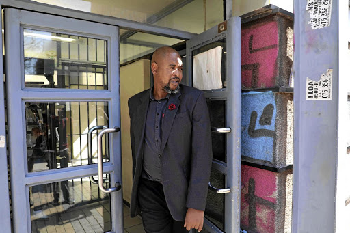 Actor Sello Sebotsane seen leaving the Johannesburg Magistrate's Court, where he stands accused of domestic violence and assault with intent to do grievous bodily harm on his actress wife Shoki Sebotsane.