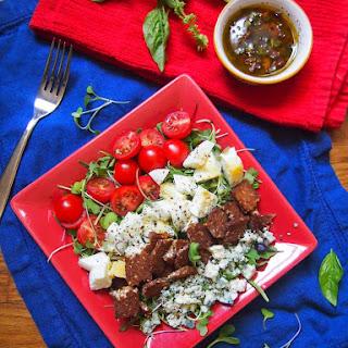 Tempeh BLT Salad with Kalamata Vinaigrette