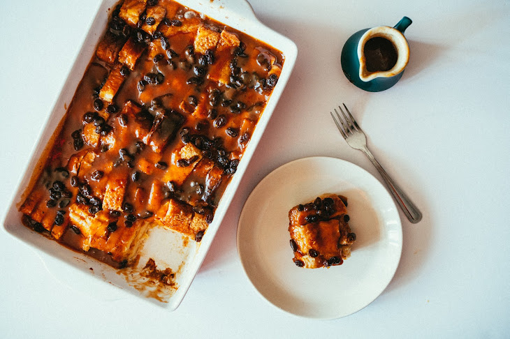 Eggnog Bread Pudding with Cinnamon Caramel Sauce Recipe | Yummly